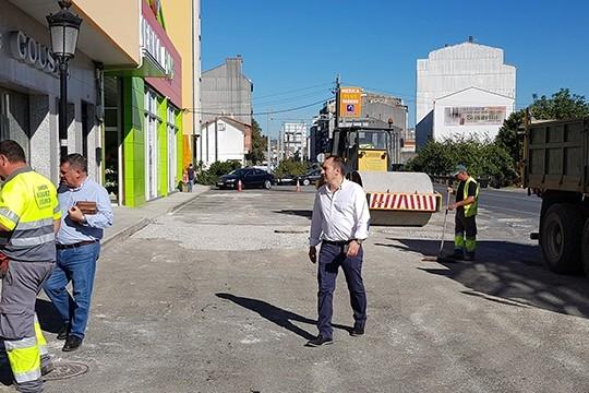 O Concello de Padrón acomete o proxecto de pavimentación da avenida de Pontecesures