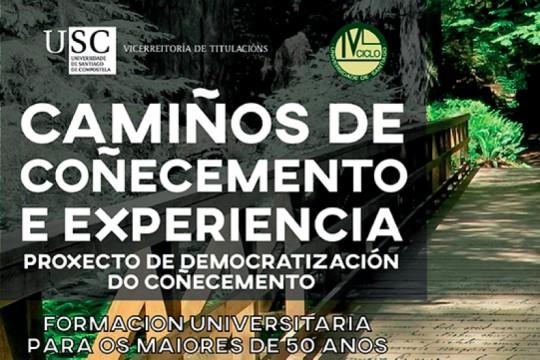 Os maiores de 50 anos poderán acceder a un programa do IV Ciclo da Universidade de Santiago en Padrón