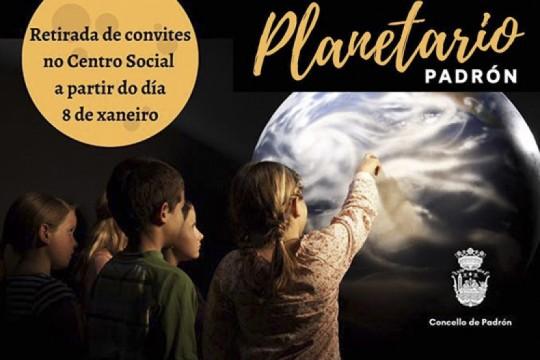 O Concello de Padrón convida á veciñanza a unha sesión do planetario no auditorio municipal o 31 de xaneiro e o 1 de febreiro