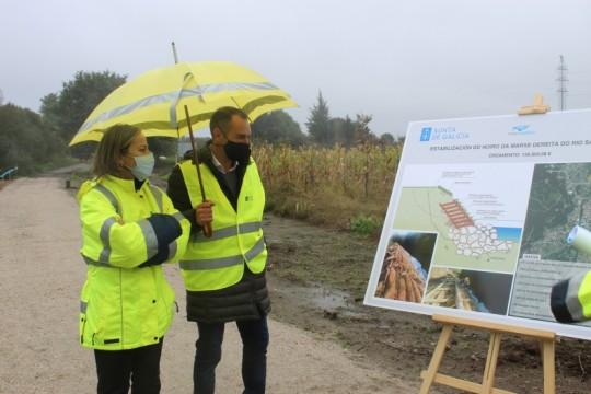 O alcalde de Padrón destaca a obra realizada con fondos autonómicos no río Sar en Estramundi de Abaixo para disminuir o risco de inundacións