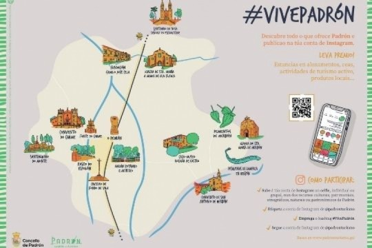 A concellaría de Turismo do Concello de Padrón lanza a nova campaña de promoción turística 'Vive Padrón'