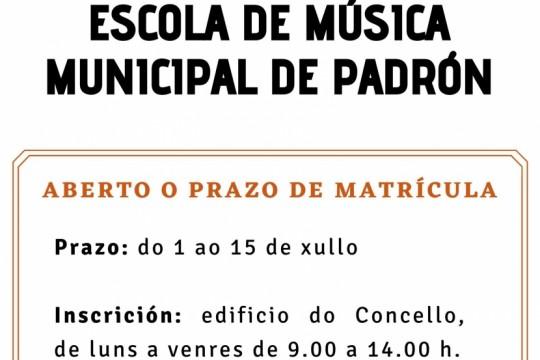 Aberto o prazo de matricula para a Escola de Música Municipal