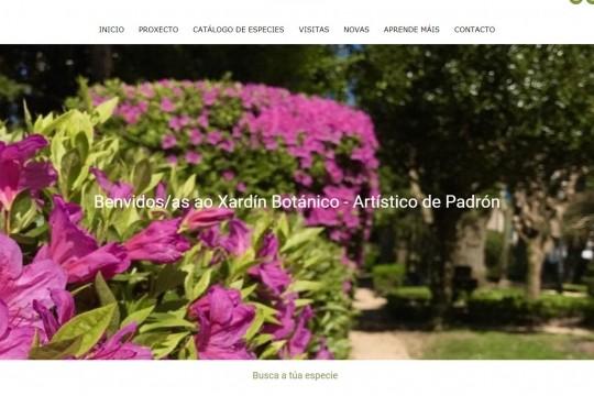 O Xardín Botánico-Artístico de Padrón estrea páxina web para poñer en valor e promover este tesouro natural